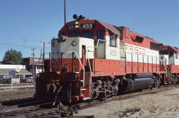 GP38-2 459 at Cuba, MO in October 1979