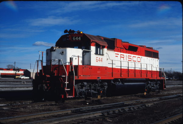 GP38AC 644 at Enid, Oklahoma in November 1980