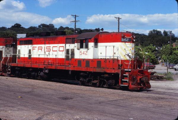 GP7 542 at Fayetteville, Arkansas on June 11, 1979 (Paul Strang)