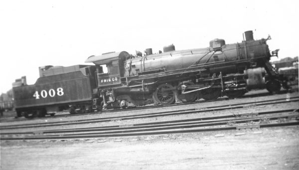2-8-2 4008 at Monett, Missouri on May 4, 1947