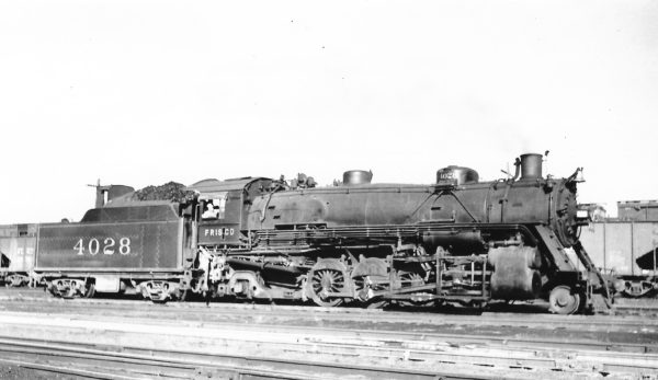 2-8-2 4028 at St. Louis, Missouri on July 15, 1939 (Arthur B. Johnson)