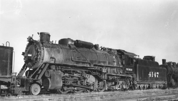2-8-2 4147 at Chaffee, Missouri on November 19, 1951 (Arthur B. Johnson)