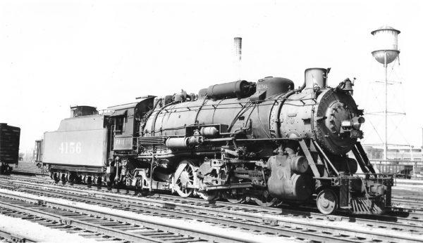 2-8-2 4156 at Springfield, Missouri on March 4, 1950 (Arthur B. Johnson)