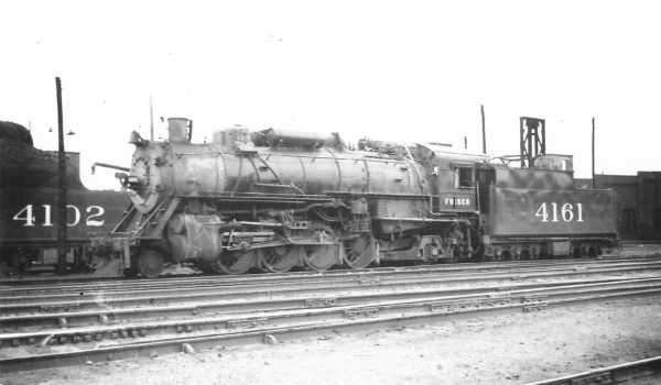 2-8-2 4161 at Springfield, Missouri on July 1, 1947 (Arthur B. Johnson)