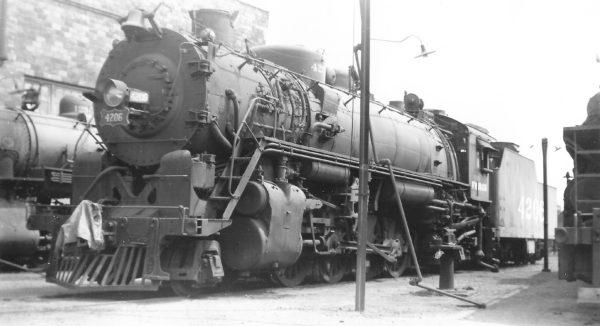2-8-2 4206 at Birmingham, Alabama on August 30, 1951 (Arthur B. Johnson)