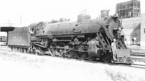 4-8-2 1503 at Tulsa, Oklahoma on June 18, 1949 (Arthur B. Johnson)