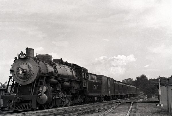 4-8-2 1507 on Train Number 7, Westbound at Southeastern Junction, St. Louis, Missouri in 1942 (William K. Barham)
