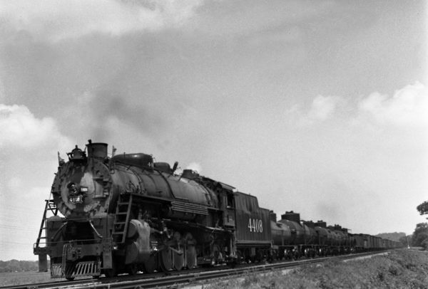 4-8-2 4408 at Allenton, Missouri in 1941 (William K. Barham)