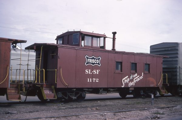 Caboose 1172 at Memphis, Tennessee on January 18, 1972