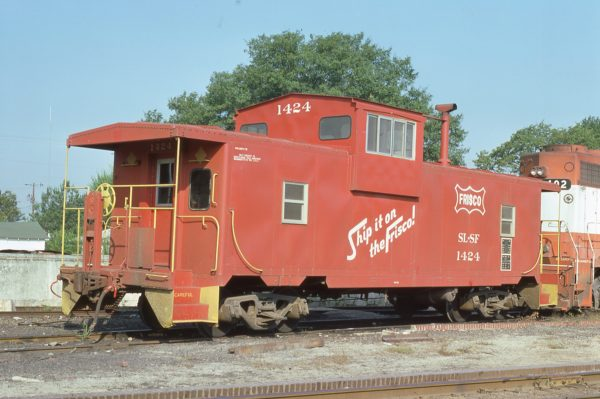 Caboose 1424 at Columbus, Mississippi on September 24, 1976