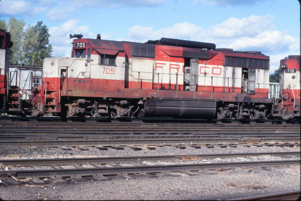 GP35 705 at Lawrence, Kansas on October 5, 1977