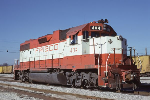 GP38-2 404 at Memphis, Tennessee in January 1981 (Lon Coone)