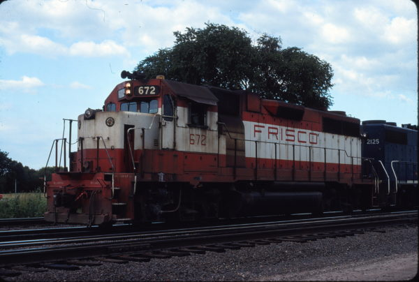 GP38-2 672 at Topeka, Kansas in July 1979 (Dan Warren)