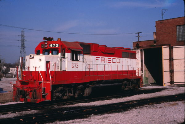 GP38-2 673 (location unknown) in May 1981