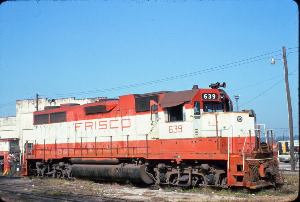 GP38AC 639 at Birmingham, Alabama in March 1978 (Lon Coone)