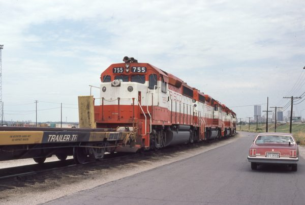 GP40-2 755 at Tulsa, Oklahoma on August 31, 1980 (P.B. Wendt)