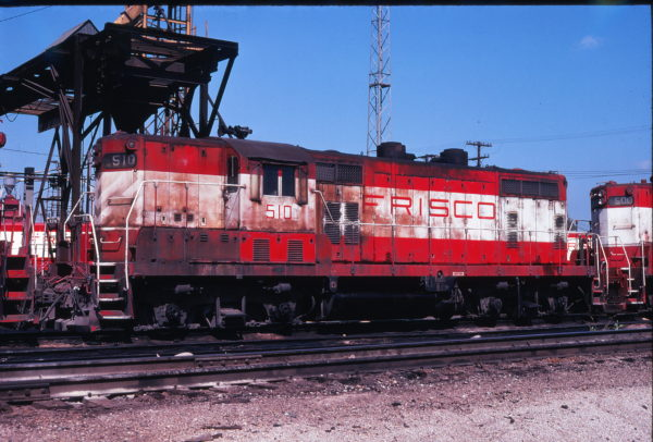 GP7 510 at Springfield, Missouri in September 1978