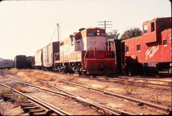 GP7 594 at Van Buren, Arkansas on October 6, 1973