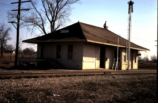 Roff, Oklahoma Depot (date unknown)