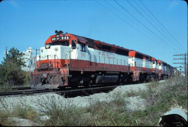 SD45s 948 and 942 at Birmingham, Alabama in October 1978 (Bill Folsom)
