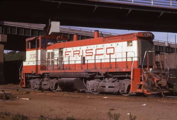SW1500 336 at Kansas City, Missouri on September 23, 1974 (D.H. Hamley)