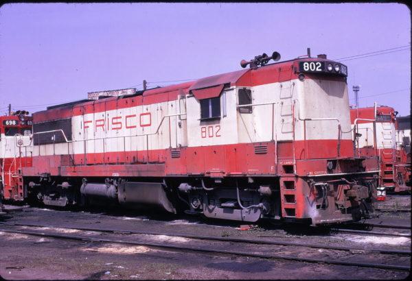 U25B 802 at Birmingham, Alabama on April 27, 1974 (Lon Coone)