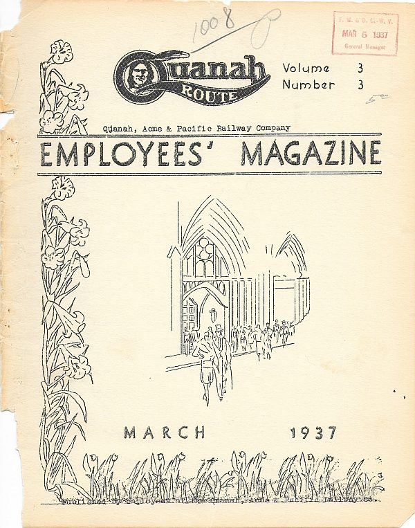 QA&P Employees' Magazine - March 1937