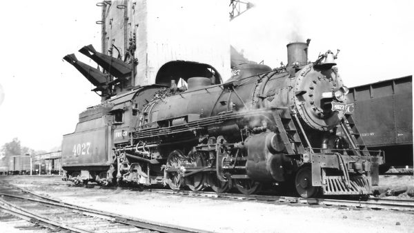 2-8-2 4027 at Fort Smith, Arkansas on October 3, 1948 (Arthur B. Johnson)