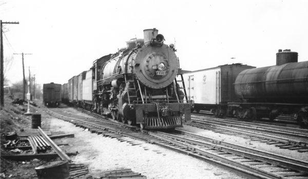 2-8-2 4103 leaving Springfield, Missouri on April 10, 1948 (Arthur B. Johnson)