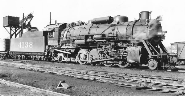 2-8-2 4138 at St. Louis, Missouri on October 13, 1948 (Arthur B. Johnson)