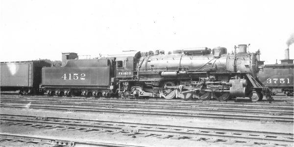 2-8-2 4152 at Tulsa, Oklahoma on June 15, 1946 (Arthur B. Johnson)