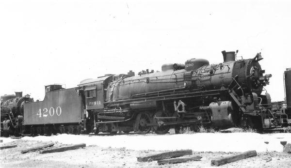 2-8-2 4200 at Memphis, Tennessee on May 22, 1950 (Arthur B. Johnson)