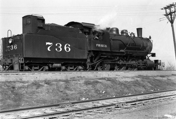 4-6-0 736 at Southeastern Junction, St. Louis, Missouri in 1943 (William K. Barham)