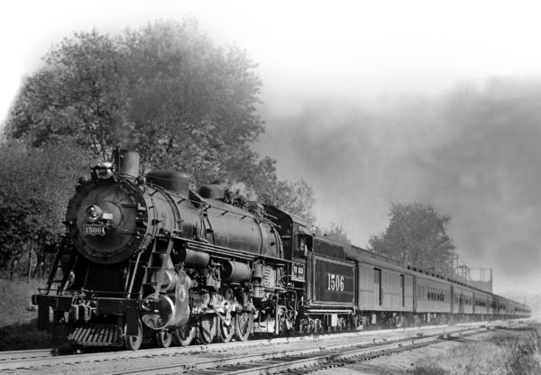 4-8-2 1506 Westbound at Shrewsbury, Missouri circa 1940