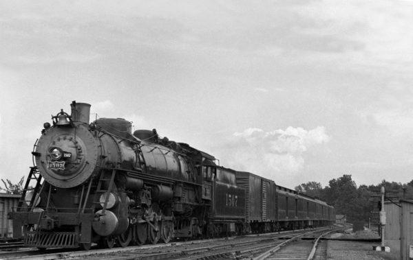 4-8-2 1507 Westbound on Train #7 at Southeastern Junction, St. Louis, Missouri in 1940 (William K. Barham)