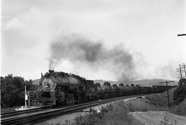 4-8-2 4408 Eastbound at Meramec Highlands, Missouri in 1941