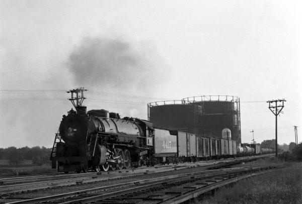 4-8-2 4417 Eastbound at Southeastern Junction, St. Louis, Missouri in 1943 (William K. Barham)