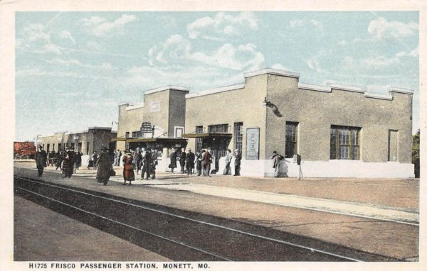 Frisco Depot Monett, Missouri Postcard