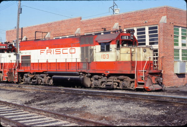 GP15-1 103 at Fort Smith, Arkansas on June 13, 1980 (Paul Strang)