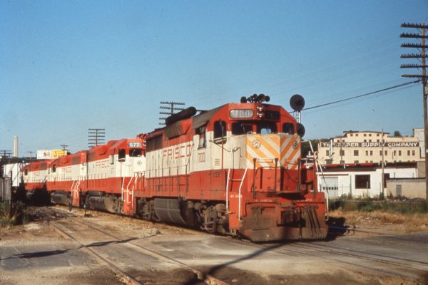 GP35 700 and GP38-2 677 at Rosedale, Kansas (date unknown)