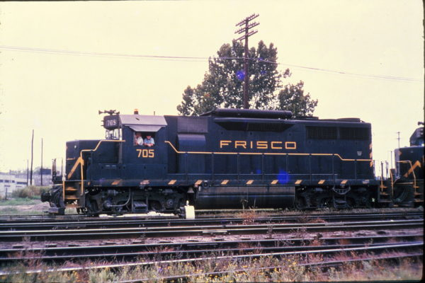 GP35 705 at Memphis, Tennessee in September 1965 (Rail Junction Slides)