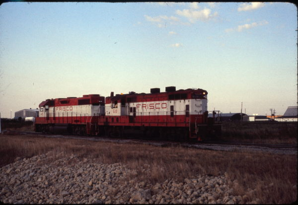 GP38-2 449 and GP7 618 at Wichita, Kansas on August 5, 1975