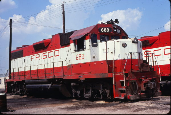 GP38-2 689 at Fort Worth, Texas on June 20, 1980 (Bill Phillips)