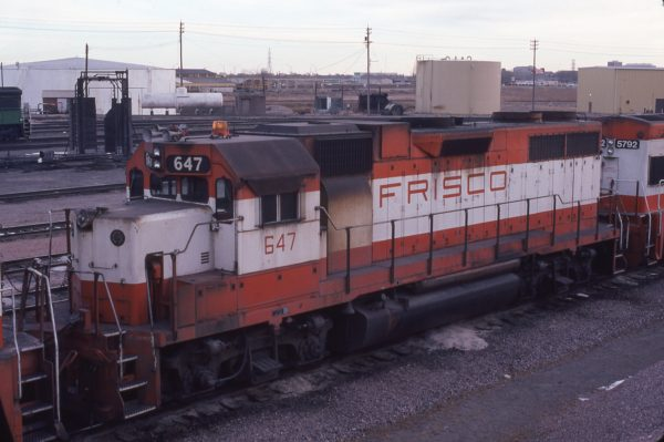 GP38AC 647 at Lincoln, Nebraska in February 1981 (J.C. Butcher)