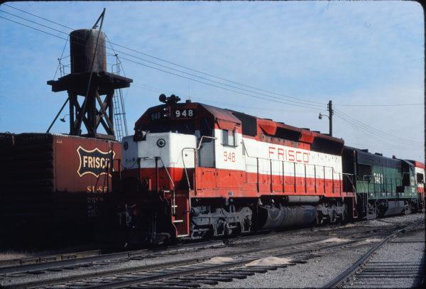 SD45 948 at Enid, Oklahoma on January 6, 1981 (Gene Gant)