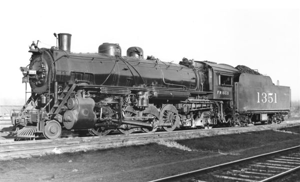 2-8-2 1351 at St. Louis, Missouri in 1948 (Joe Collias)