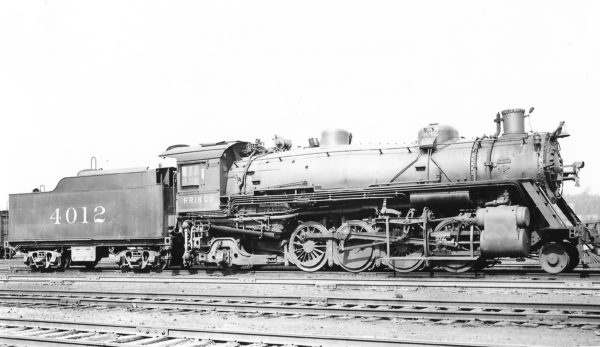 2-8-2 4012 at St. Louis, Missouri on April 10, 1938 (Arthur B. Johnson)