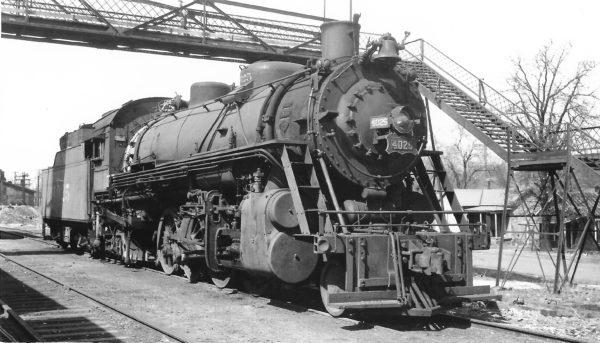 2-8-2 4025 at Springfield, Missouri on March 19, 1949 (Arthur B. Johnson)
