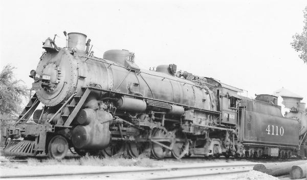 2-8-2 4110 at Tulsa, Oklahoma on September 21, 1948