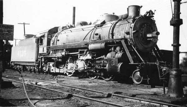 2-8-2 4125 at Afton, Oklahoma on October 19, 1947 (Arthur B. Johnson)